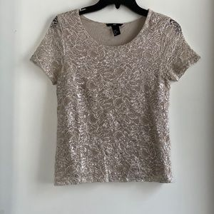 Shimmery lace shirt